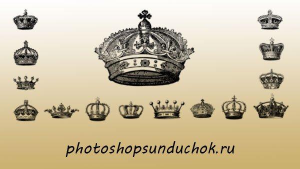 Кисти для фотошопа Короны