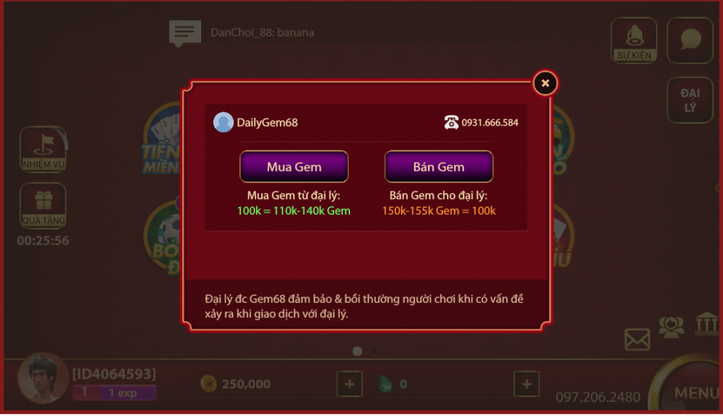 Chơi game đánh bài online trên Gem68.net