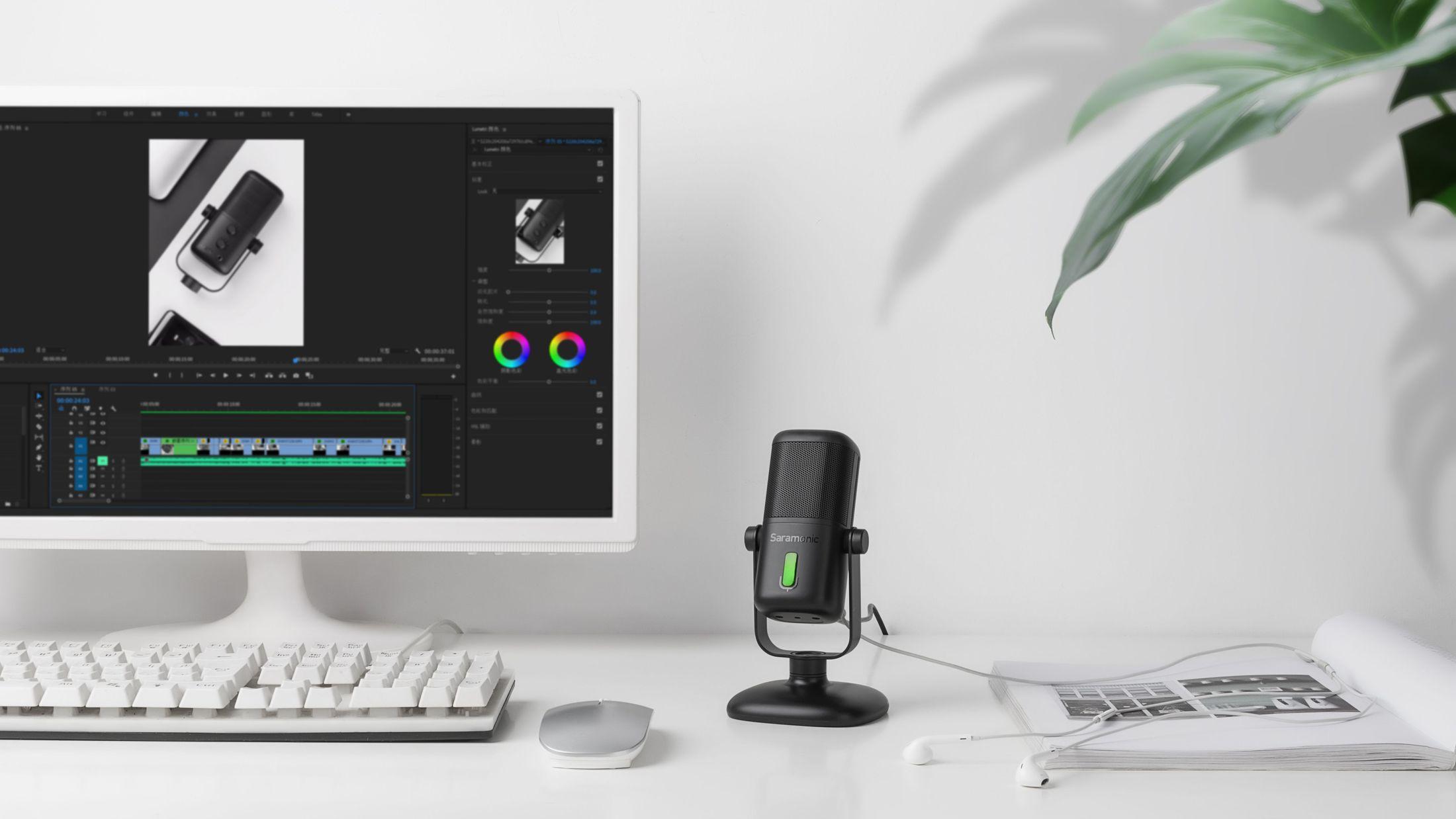 Микрофон Saramonic SR-MV2000 для записи звука в домашней студии